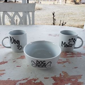 Other - Dog Mom mugs and bowl